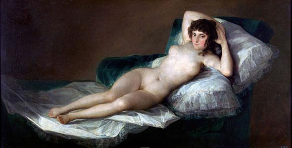 La Maja Desnuda, obra de Francisco de Goya.