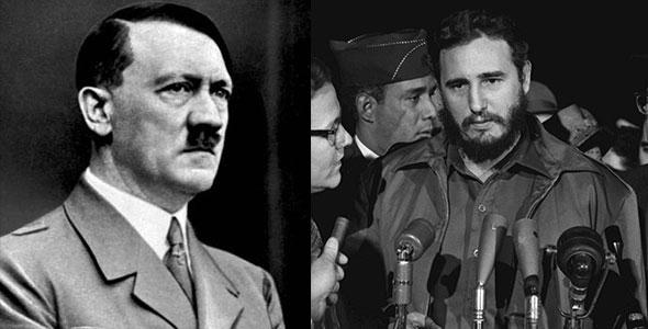 Aldofo Hitler y Fidel Castro...