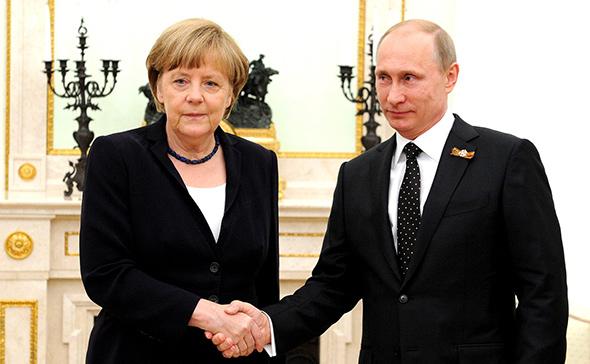 Angela Merkel y Vladimit Putin