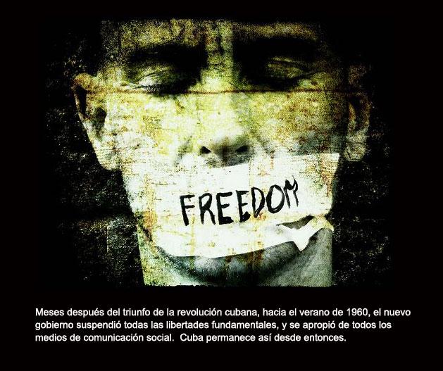 Cuba, libertad de expresion prohibida.