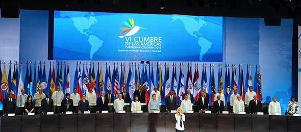Cumbre de las Américas 2012 en Cartagena, Colombia.