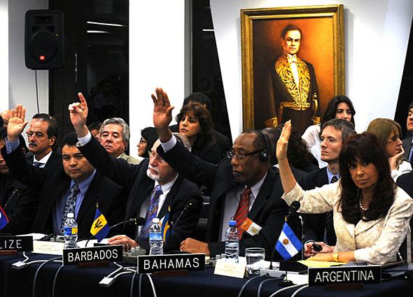 Sesión de trabajo de la OEA...