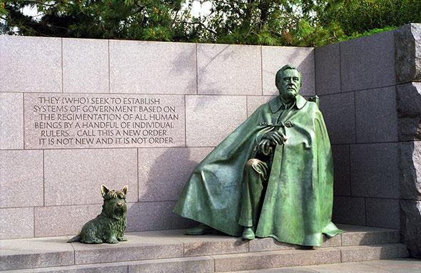 Monumento al Presidente Franklin Delano Roosevelt.