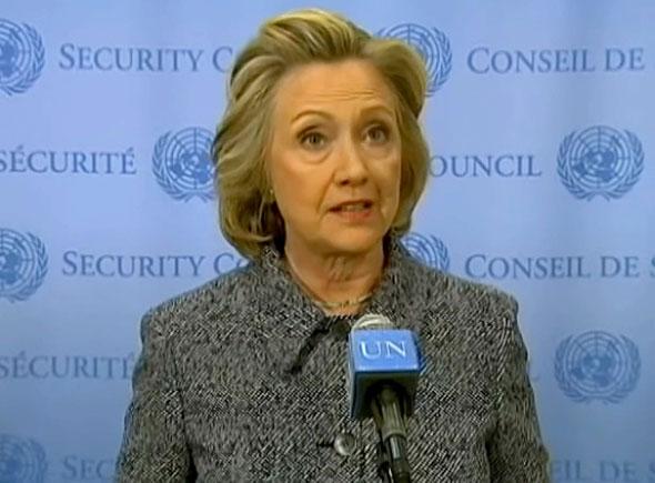 Hillary Clinton en Naciones Unidas