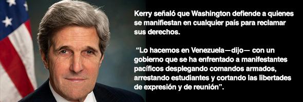 John Kerry, secretario de Estado de Estados Unidos...