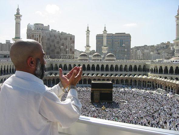 Peregrinación a la Meca, en Arabia Saudita