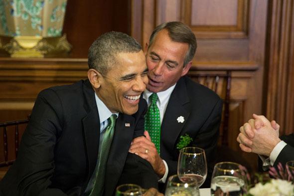 El presidente Barack Obama y el líder republicano John Boehner.