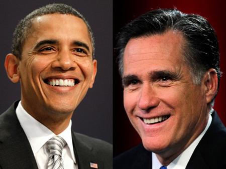 Barack Obama y Mitt Romney