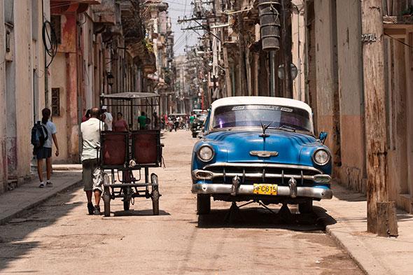 Panorama cubano en las calles de La Habana Vieja
