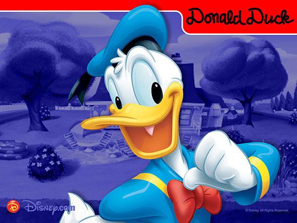 El pato Donald, popular personaje de Walt Disney