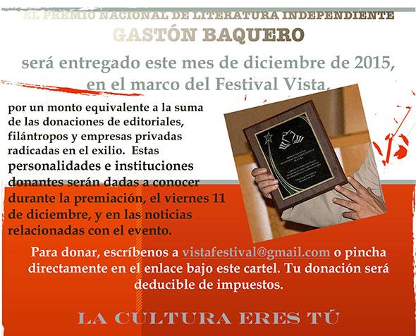 Premio Gastón Baquero...