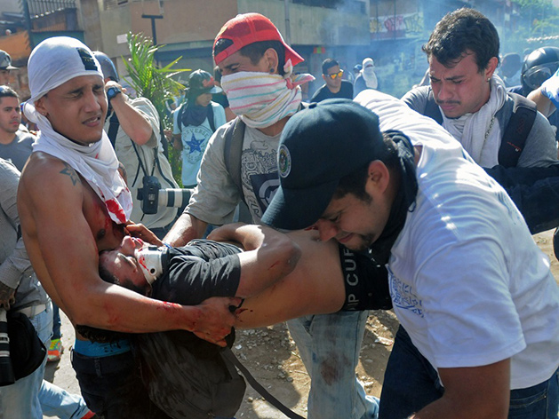 Protestas en Venezuela...