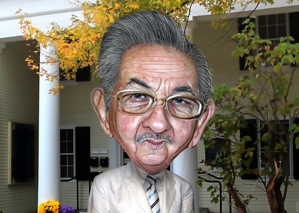 Caricatura de Raúl Castro...
