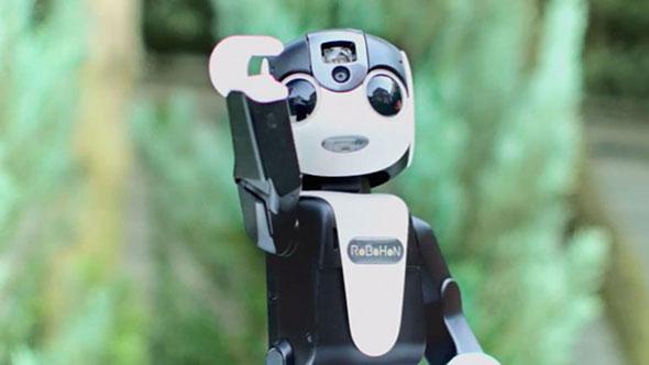 Un robot celular width=