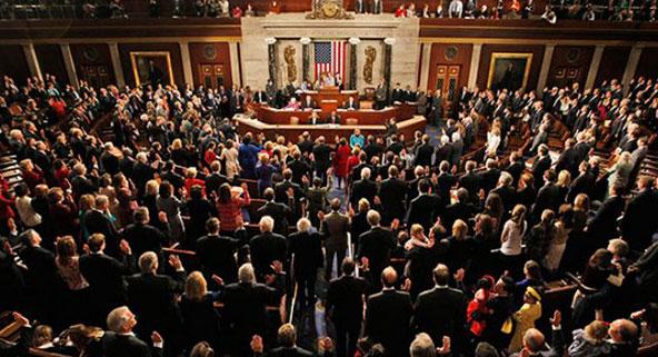El Congreso de EE.UU. en pleno...
