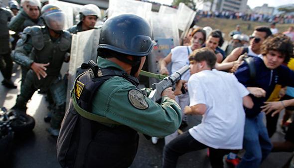 Violencia en Venezuela...