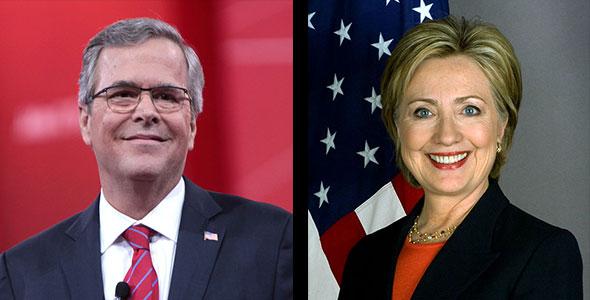 Jeb Bush y Hillary Clinton...