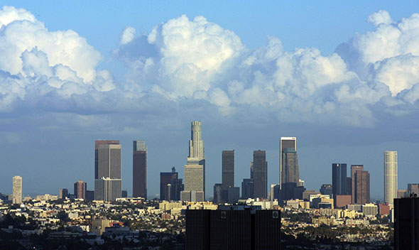 Rascacielos del centro de Los Angeles...