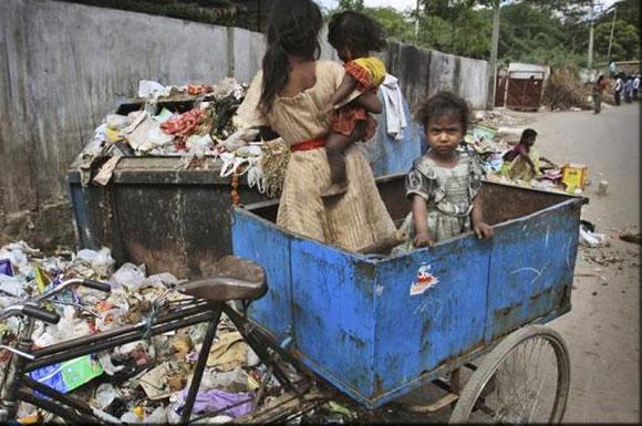 Imagen de pobreza extrema en América Latina...