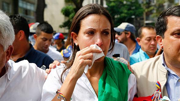 Maria Corina Machado, lider opositora de Venezuela