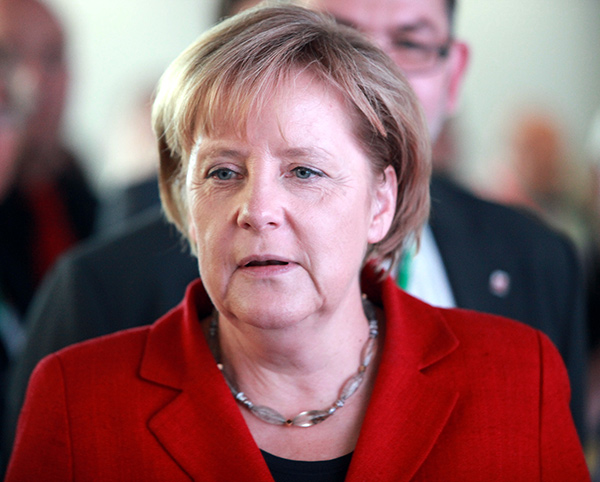 Angela Merkel, canciller alemana...