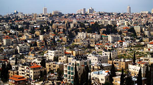 Barrio árabe en Jerusalén, la capital de Israel...