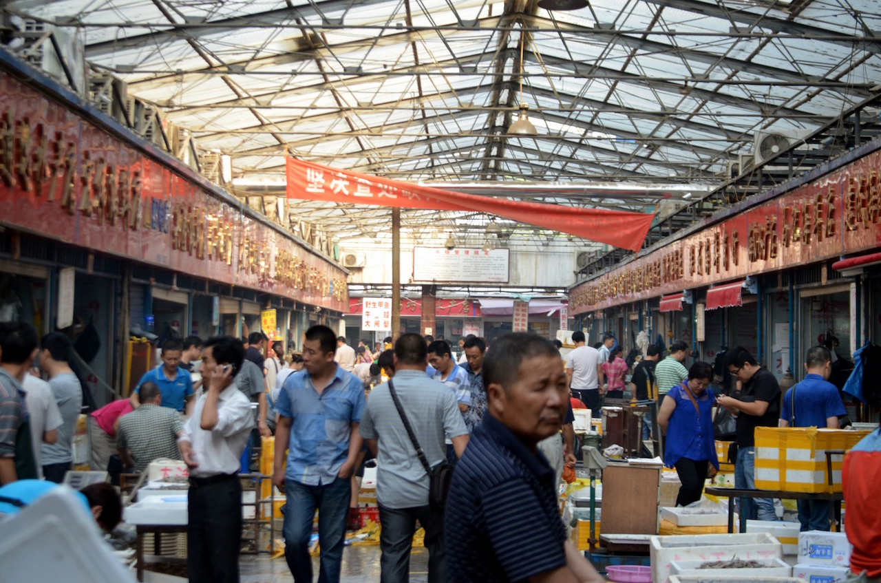 Mercado de productos en China