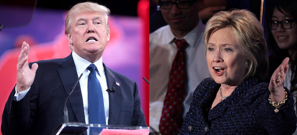 Donald Trump y Hillary Clinton...