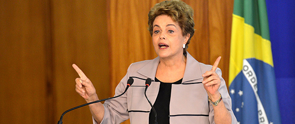 Dilma Rousseff, sometida a juicio político en Brasil.