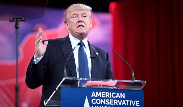 Donald Trum, precandidato republicano...