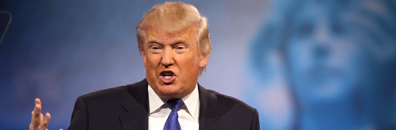 El aspirante republicano Donald Trump...
