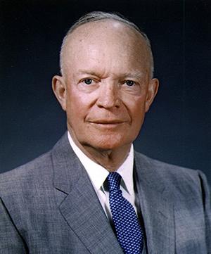 Dwight D. Eisenhower, presidente de Estados Unidos entre 1953 y 1961