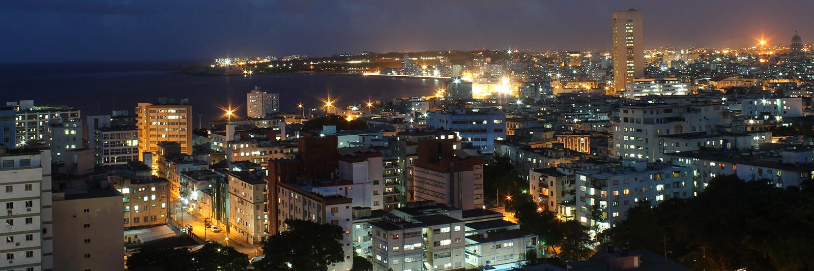 Panorámica de La Habana de noche….