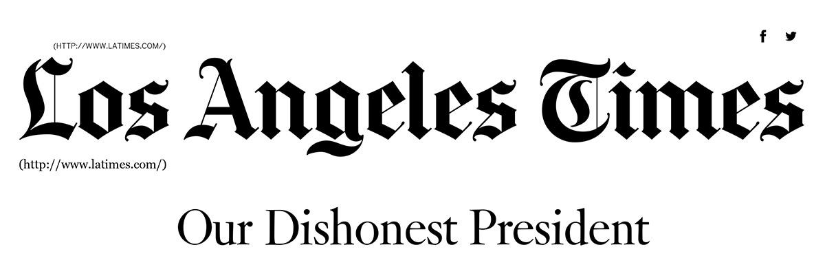 Titular del primer editorial del Times contra Donald Trump