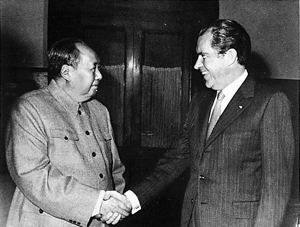 Mao Zedong y Richard Nixon en 1972.
