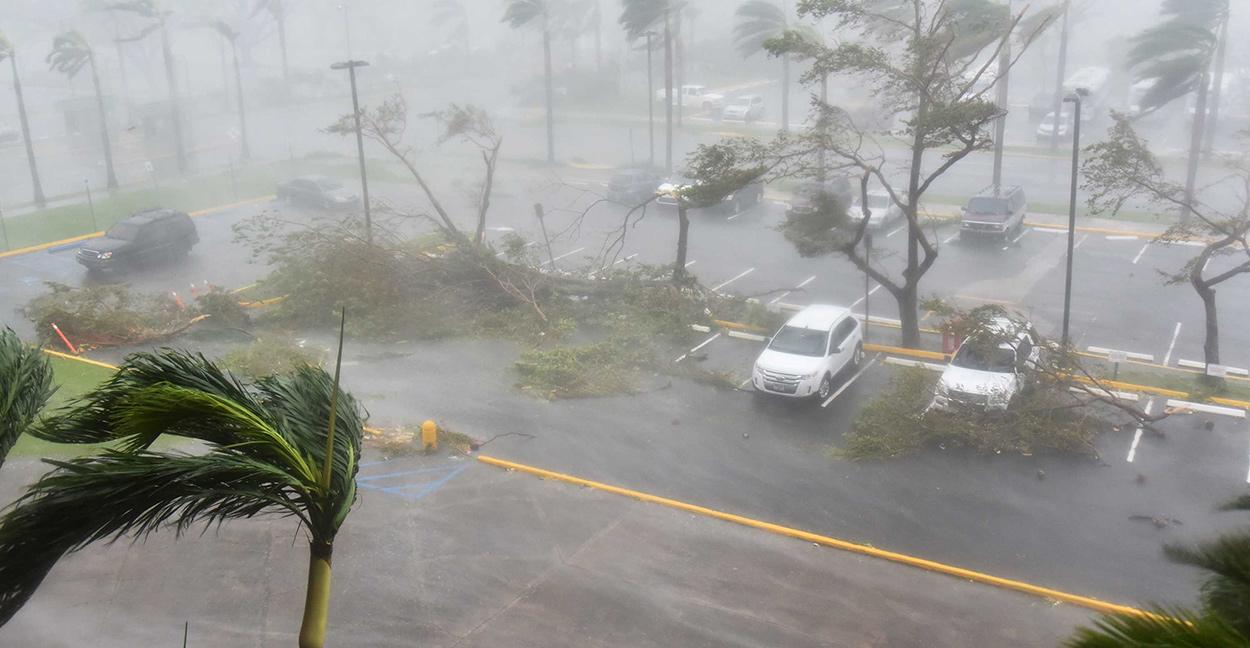 El huracán María en Puerto Rico...