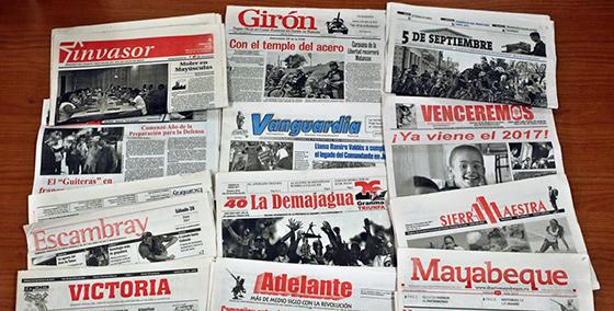 periódicos regionales cubanos, todos propiedad del gobienro.