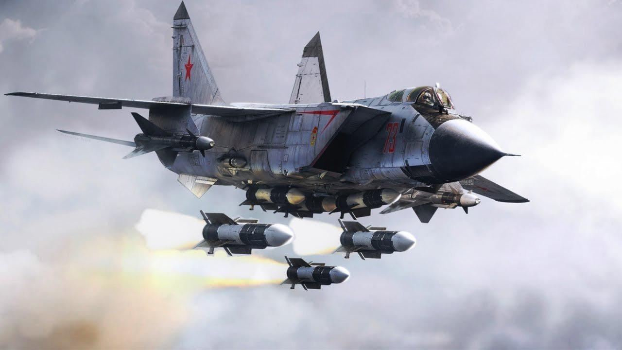 Misiles rusos Kinzhal en un avión MiG-31