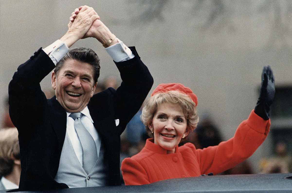 Nancy y Ronald Reagan en 1981.