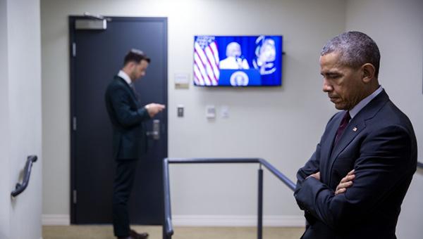 Barack Obama en la Casa Blanca...