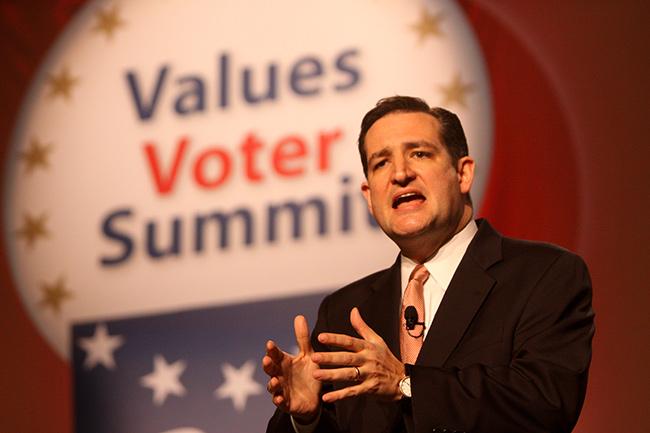 Senador republicano Ted Cruz...