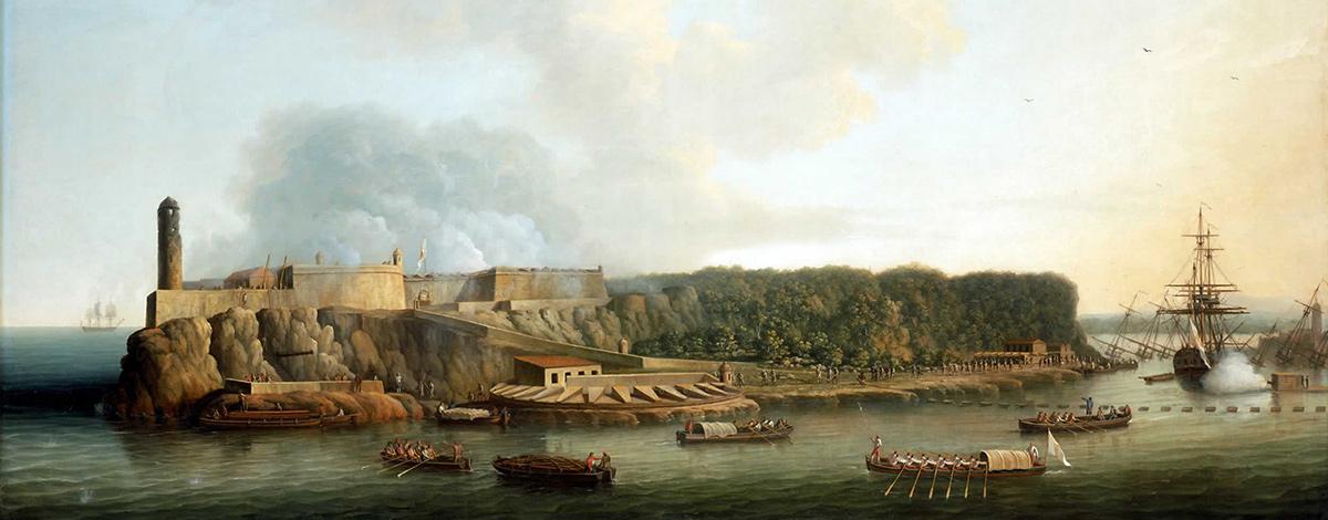 Toma de la Habana por los ingeleses en 1762...