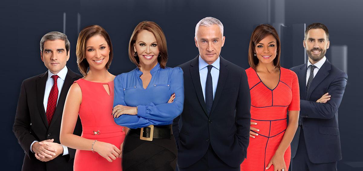 Conductores de los noticieros nacionales de Univisión.