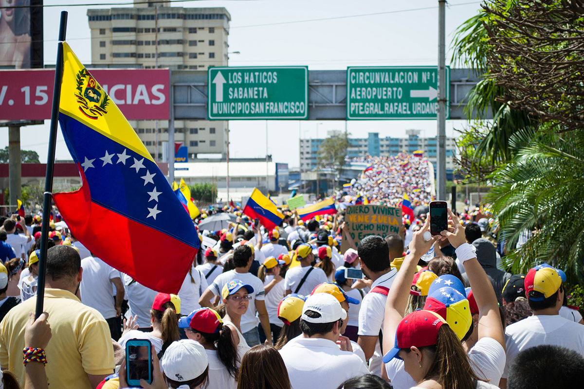 Protestas en las calles de Venezuela en 2017.