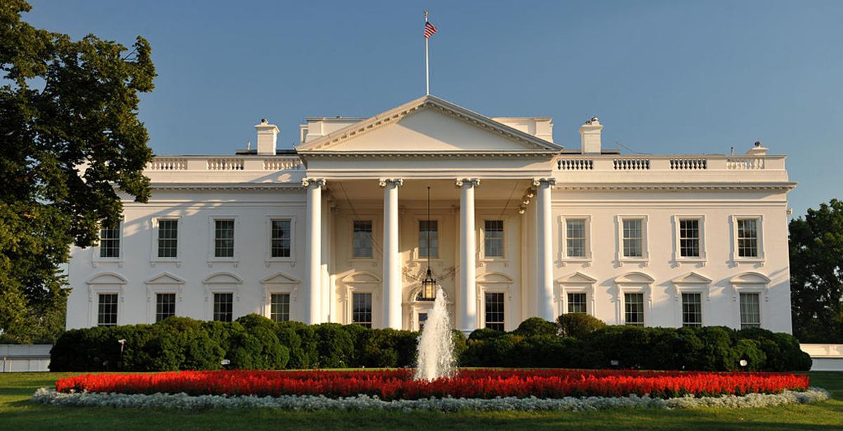 La Casa Blanca, sede del poder ejecutivo del gobierno de EE.UU.