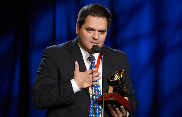 Yalil Guerra en la ceremoia de entrega de premios Grammy Latino.